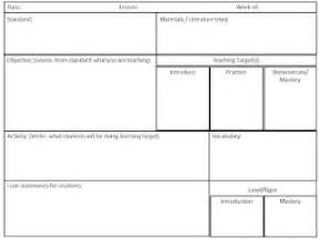 Common Math Lesson Plan Template by Common Math Lesson Plan Template School Math