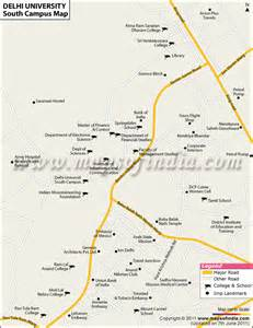 south college cus map du south cus colleges delhi colleges in