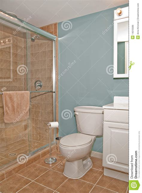 Bathroom And Shower Bathroom Toilet And Shower Stall Stock Image Image 14515589