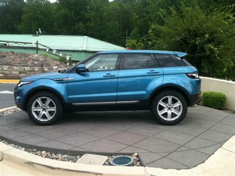 light blue land rover range rover evoque pure mauritius blue exterior cirrus