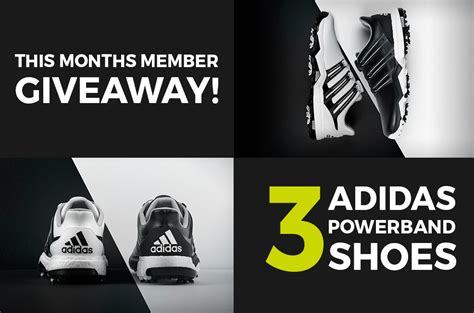 july giveaway 3 member will receive adidas powerband golf shoes me and my golf - Adidas Giveaway