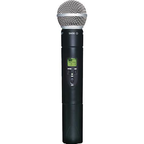 shure ulx2 58 wireless handheld transmitter microphone j1 musician s friend