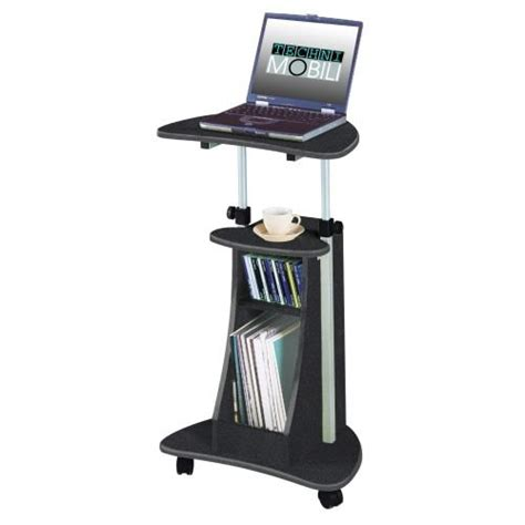 Portable Office Laptop Desk Rolling Adjustable Table Cart Portable Standing Laptop Desk