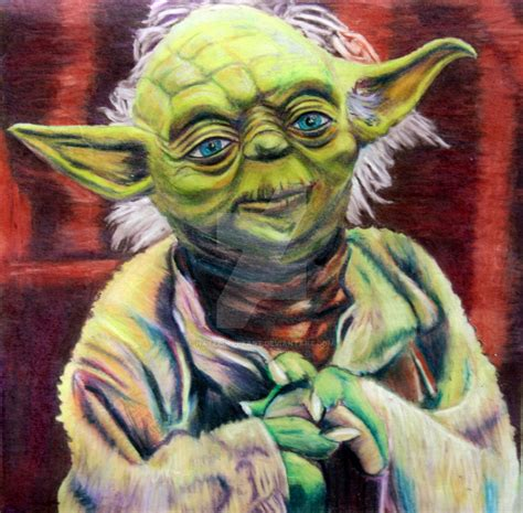 what color is yoda yoda in color pencil by hatepuppetart on deviantart