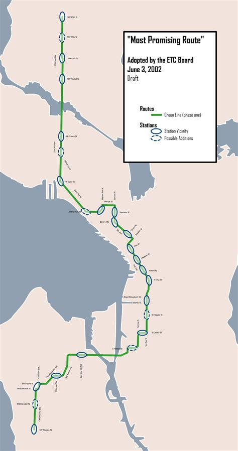 seattle map monorail seattle etc monorail map