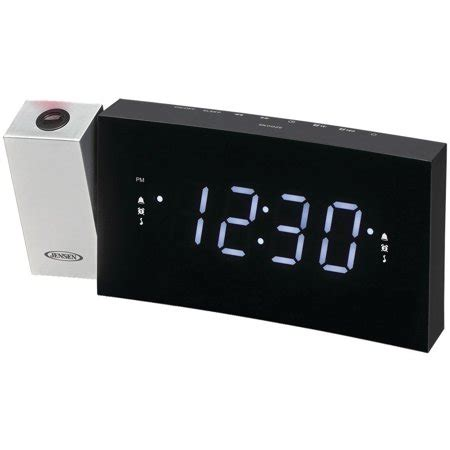 compact time projection dual alarm clock radio with large easy to read backlit lcd