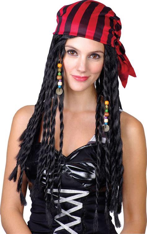 buccaneer beauty pirate wig ew ladies pirate wig