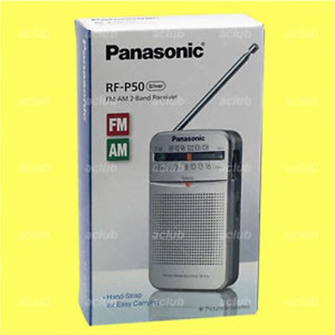 Panasonic Radio Rf P 50 Silver Bisa Gojek panasonic rf p50 am fm portable pocket radio 2 band receiver rfp50 silver ebay