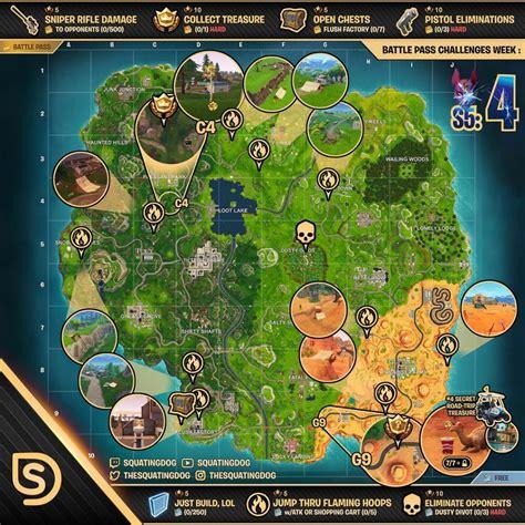 fortnite week 4 challenges fortnite season 5 week 4 challenges sheet sorrowsnow77