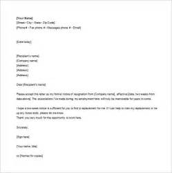 10 email resignation letter templates free sle