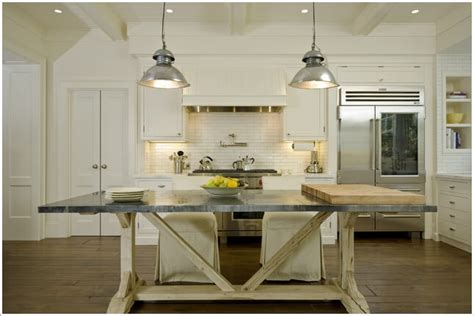 kitchen island farm table 13 ways to add rustic farmhouse style to your kitchen