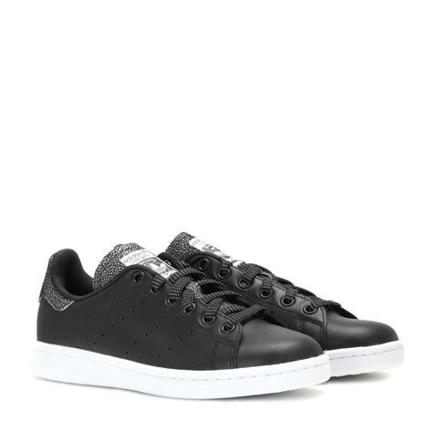 stan smith leather sneakers adidas stan smith leather sneakers in black lyst