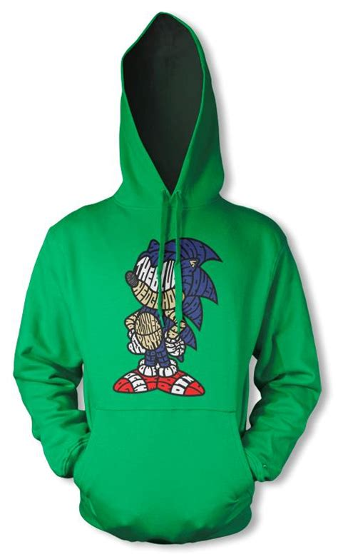 Hoodie Sonic The Hedgehog bnwt sonic the hedgehog sega gaming character hoodie hoody s ebay
