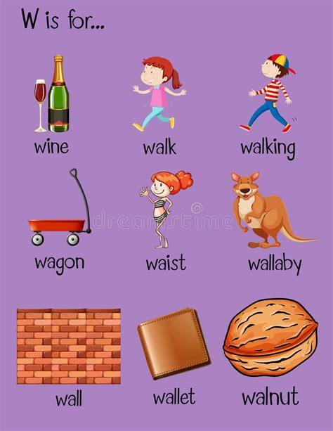 imagenes y palabras con w muchas palabras comienzan con la letra w ilustraci 243 n del