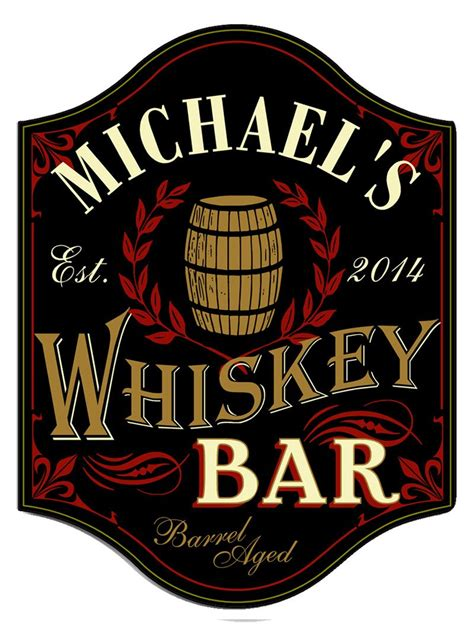 Handcrafted Whiskey - handcrafted whiskey bar sign