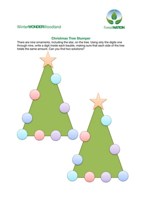 christmas tree numbers game by forestnation teaching