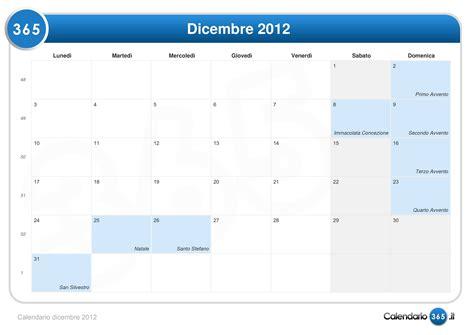 Calendario 21 Dicembre 2012 Calendario Dicembre 2012