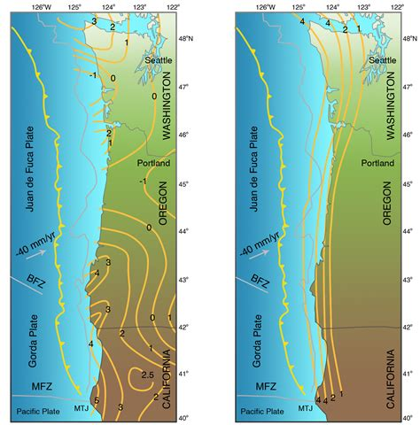 map of oregon earthquake zones 4 cascadia subduction zone living with earthquakes in