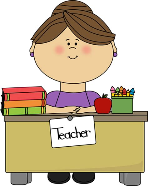 clipart for teachers sitting at a desk clip sitting at a