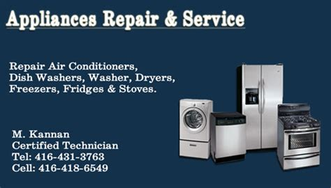 Hair Dryer Repair Toronto business cards appliance repair gallery card design and