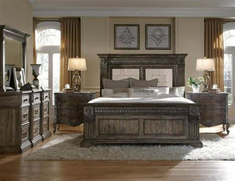 pulaski furniture arabella br medium wood 6 panel bedroom set 21 traditional
