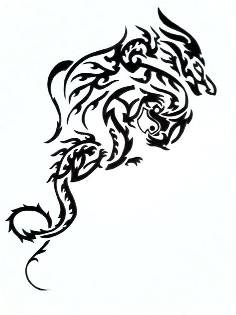 black dragon drawings clipart best