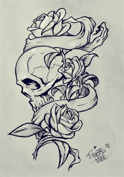 skeleton and roses tattoo banners and skull reference
