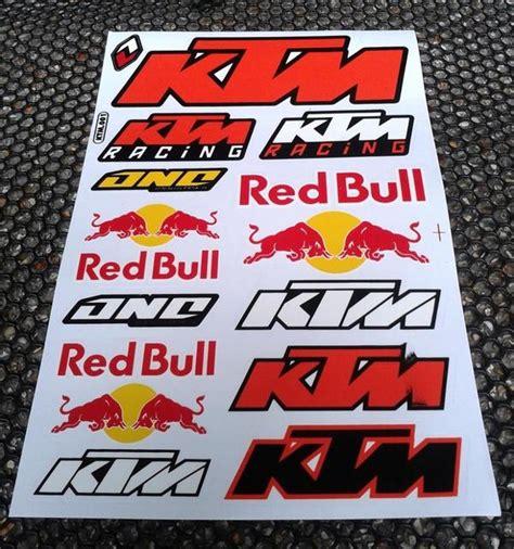 Red Bull Aufkleber Set Motorrad by Ktm Red Bull Aufkleber Sticker Bogen 18cm X 27cm In