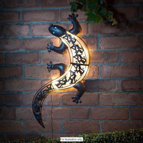 Garden Wall Ornaments Solar Light Gecko Wall Outdoor Led Furniture