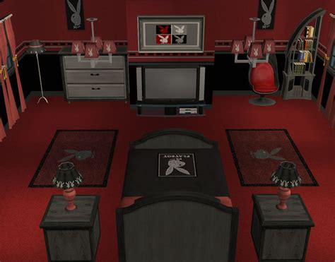 playboy bed set mod the sims playboy bedroom complete recolour set
