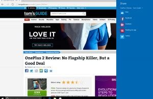 how to share a web page in edge browser
