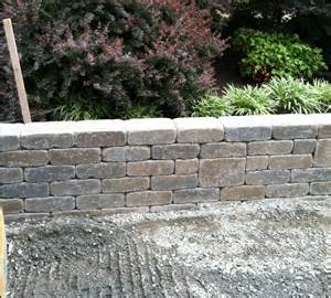 Belgard Retaining Wall We An Outdoor Fireplace Archadeck Custom Decks