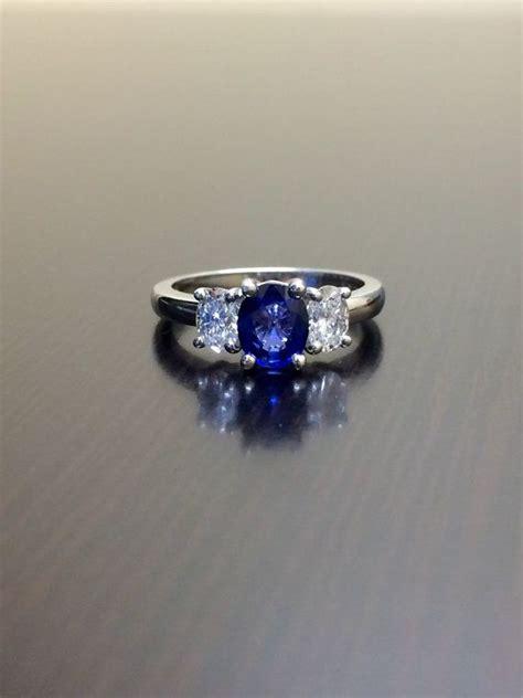 Blue Sapphire Ceylon Platina Ring ceylon blue sapphire engagement ring three