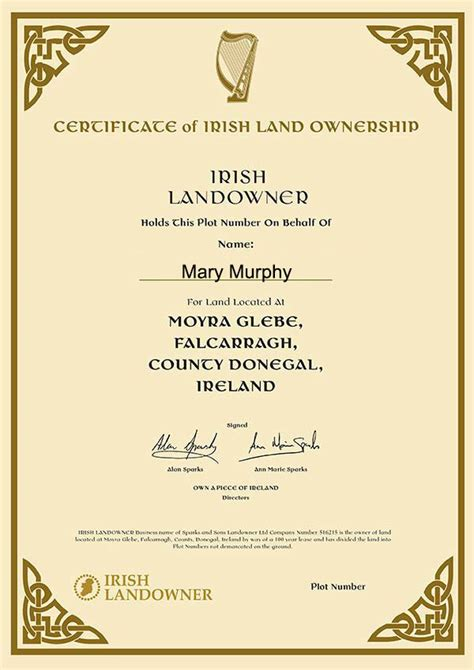 Irish Gift Cards - irish landowner gift cards for promotions