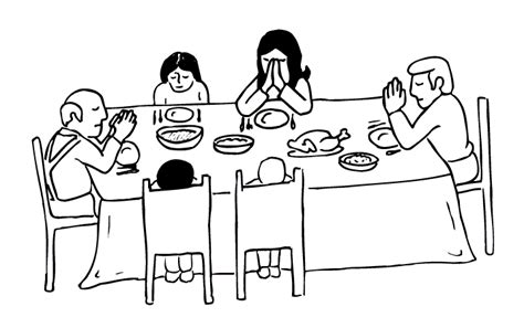family dinner coloring page family at table coloring pages