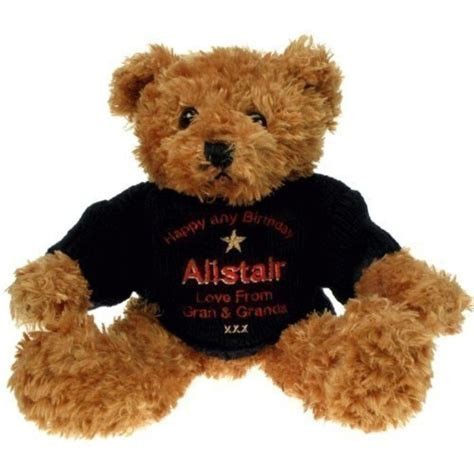 Personalised 70th Birthday Brown Teddy Bear   The