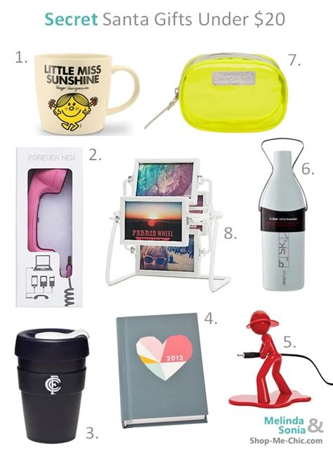 gifts for secret 8 secret santa gifts 20 chic