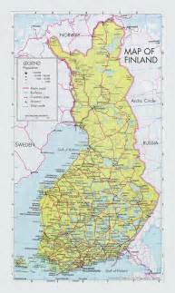 us map with cities and airports road map of finland with cities and airports vidiani