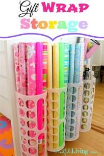 Gift Wrap Storage Ideas - gift wrap storage organization pinterest