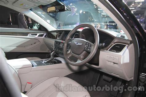 Genesis Auto Upholstery by Hyundai Genesis Interior At Auto Expo 2016 Indian Autos