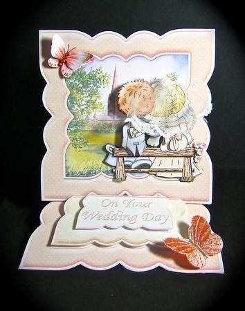 Decoupage Kits Sale - just married wedding easel card kit decoupage