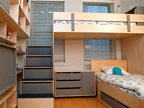 Narrow Bunk Beds small kids room storage solutions kids room ideas