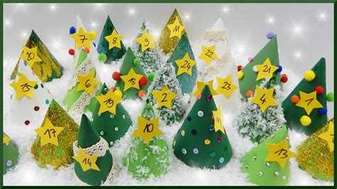 selber adventskalender basteln diy papier tannenbaum adventskalender selber basteln