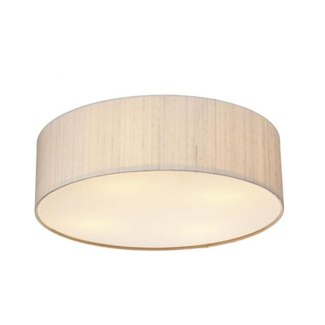 paolo pao5001 3 l 500mm flush ceiling light silk shade