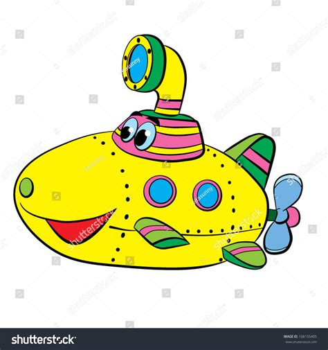 boat cartoon colors color cartoon merry submarine boat stock vector 168155405