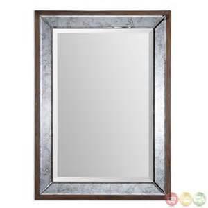 Uttermost Com Mirrors Daria Antiqued Bevel Framed Mirror 14487