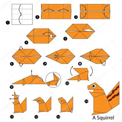 Origami Tiger Step By Step - paso a paso las instrucciones de c 243 mo hacer una ardilla de