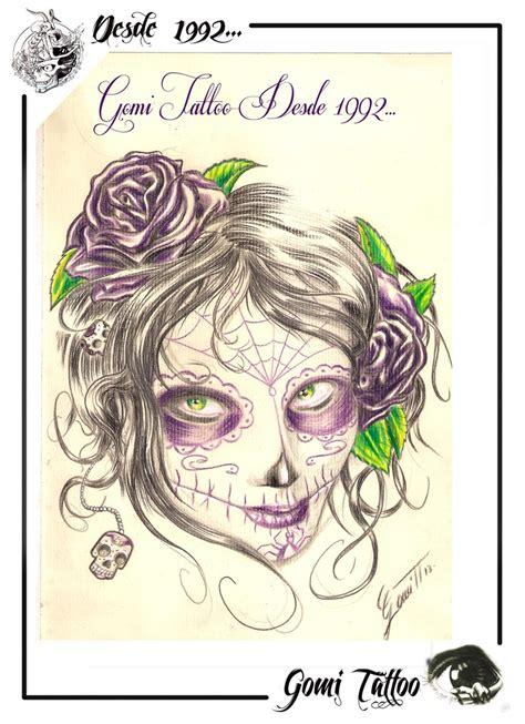 tattoos de catrinas dibujo de catrina para tatuajes en iru 241 a gomi