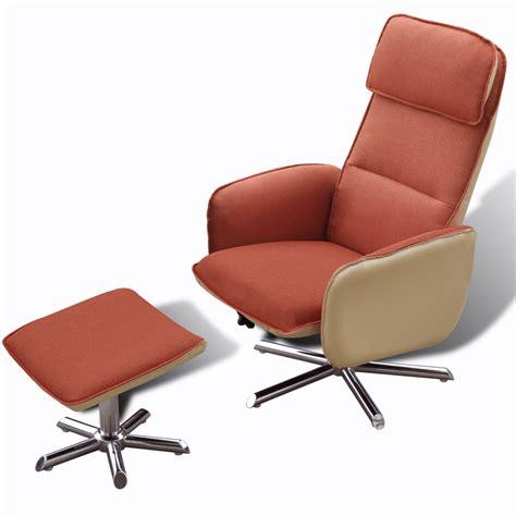 fauteuil repose pied la boutique en ligne fauteuil avec repose pied orange vidaxl fr