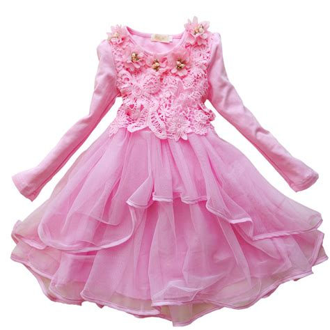 Dress Anak Size 6 2016 trendy lace dress fashion children children clothes lace and flower baby